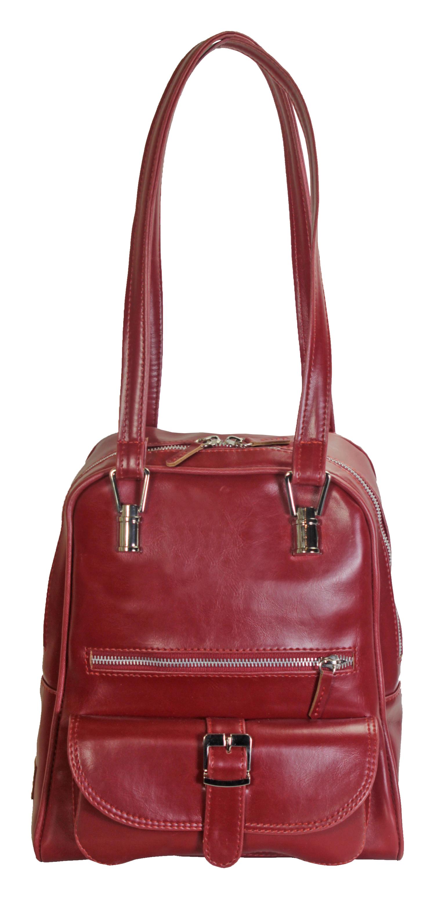 Multifunkční batůžek v červené barvě 11-10237-red
