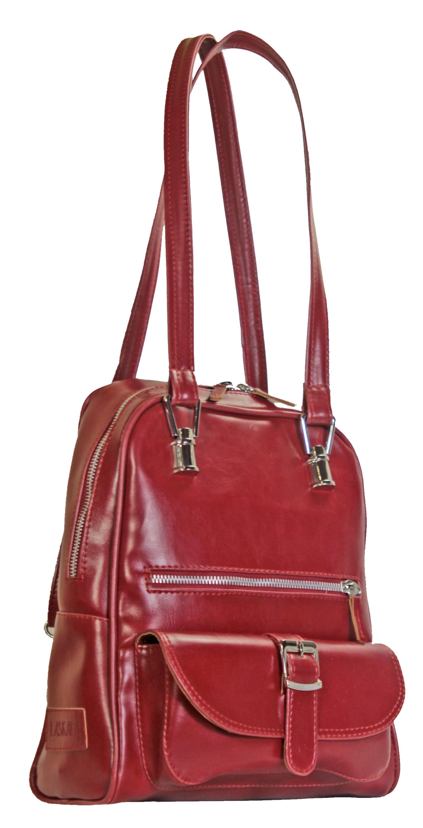 Multifunkční batůžek v červené barvě 11-10237-red - boční pohled