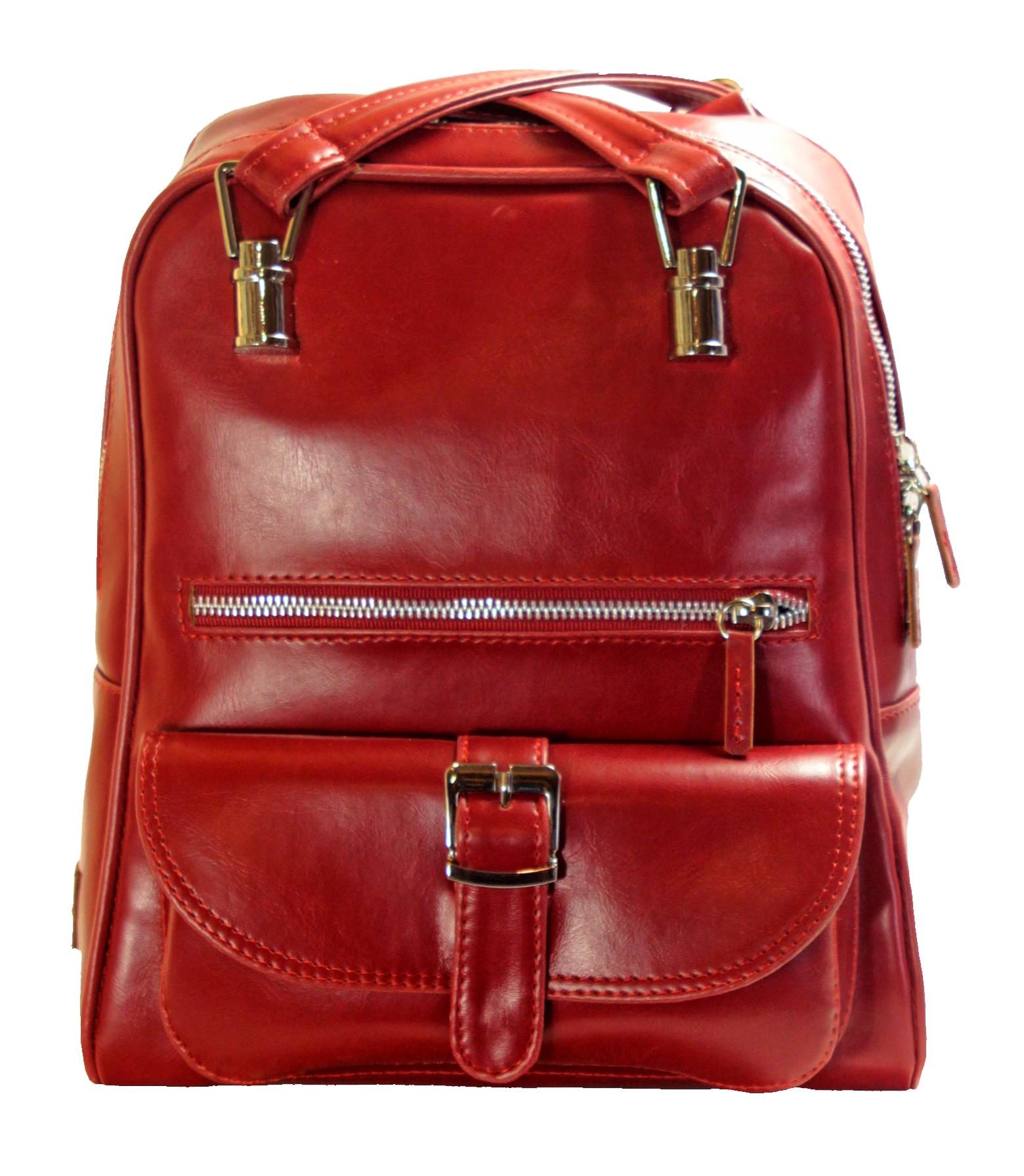 Multifunkční batůžek v červené barvě 11-10237-red - přední pohled