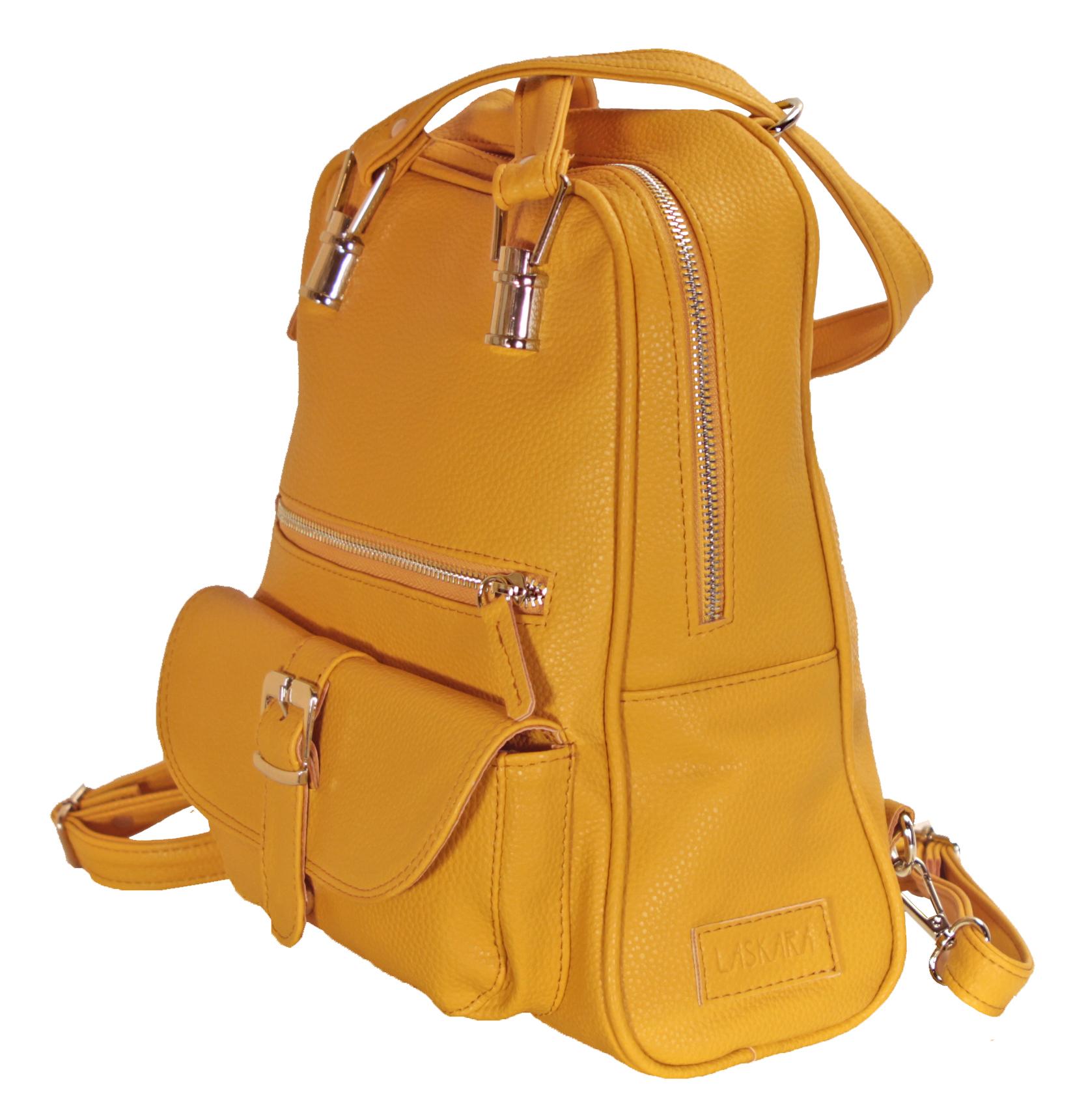 Multifunkční batůžek ve žluté barvě 11-10237-yellow - bok