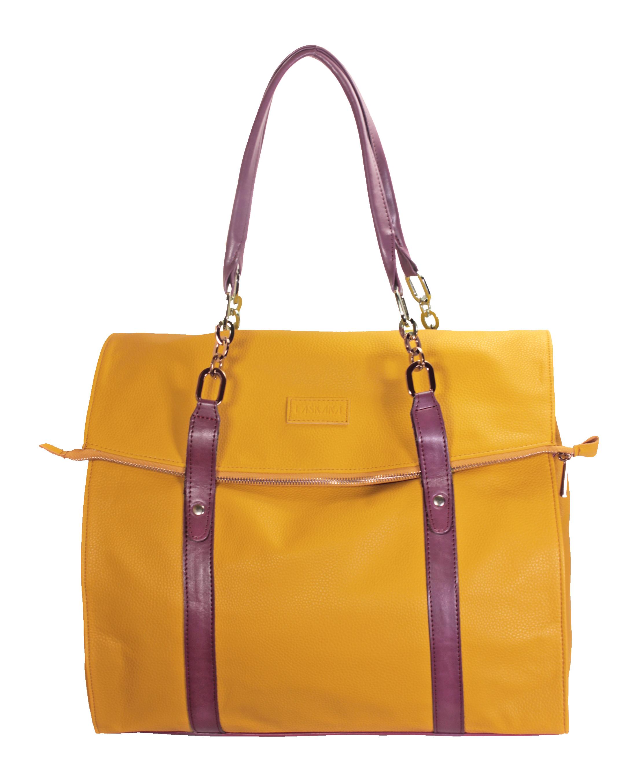2a322bdb6 Kabelky :: Set dvou tašek v hořčičné barvě 11-10240-yellow-purple
