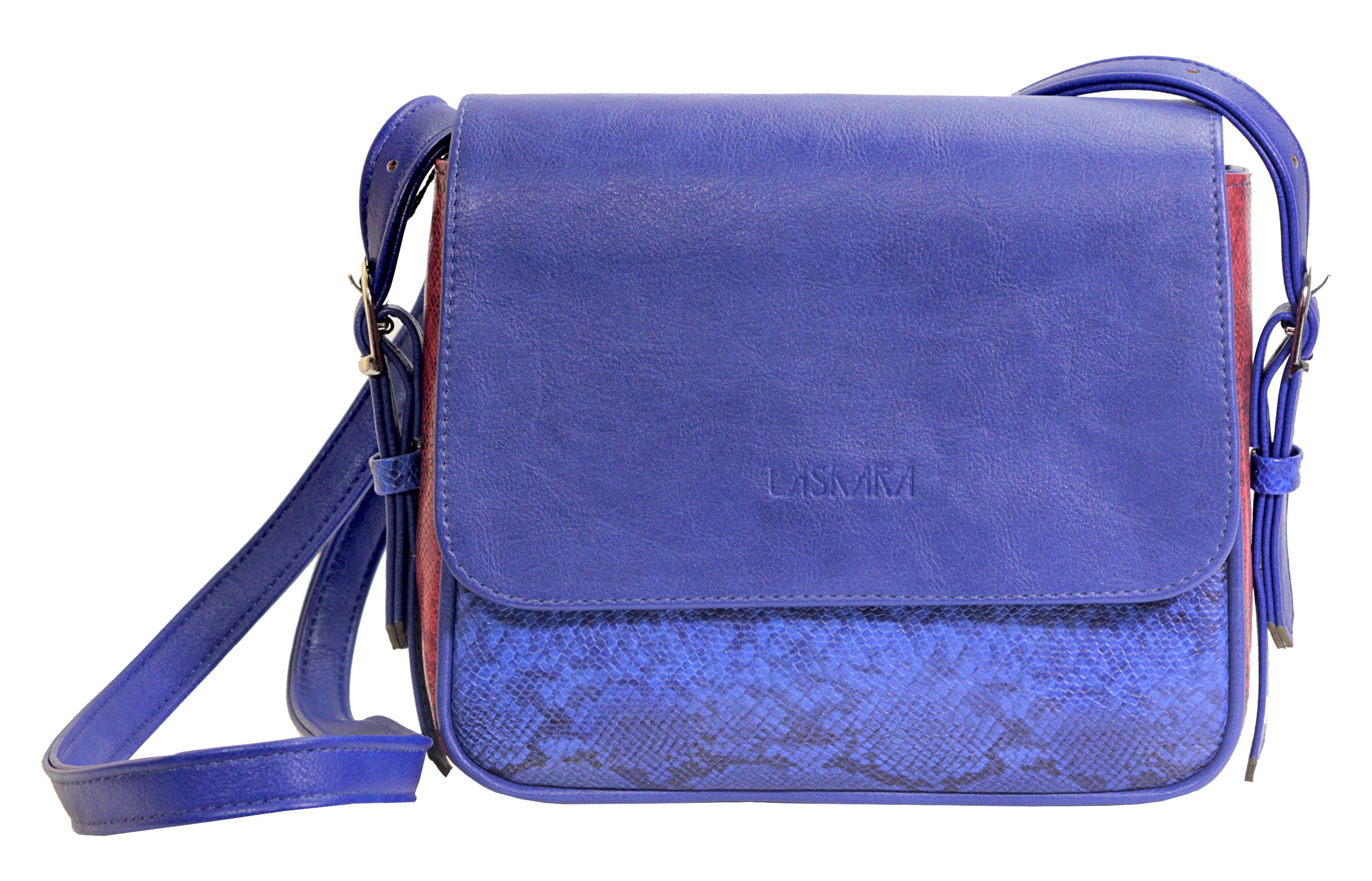 Crossbody kabelka s hadím vzorem 11-10245-blue-snake