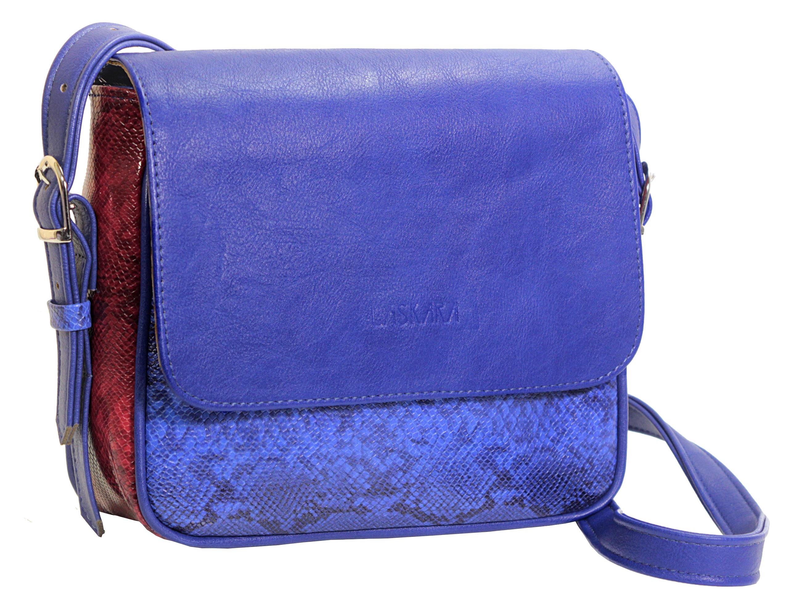 Crossbody kabelka s hadím vzorem 11-10245-blue-snake - boční pohled