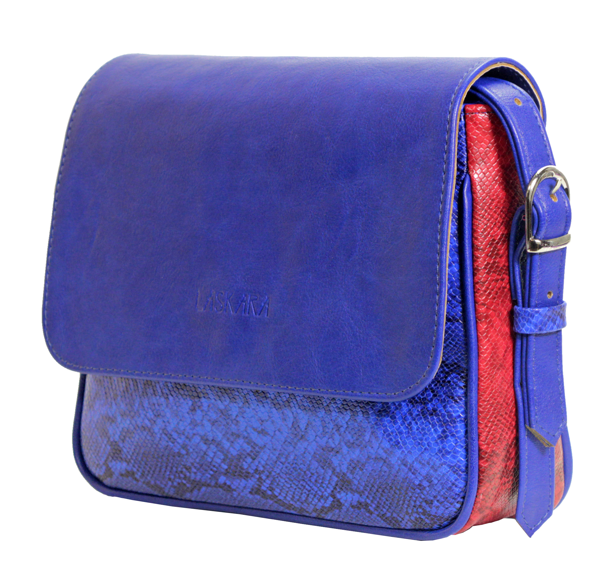 Crossbody kabelka s hadím vzorem 11-10245-blue-snake - bok