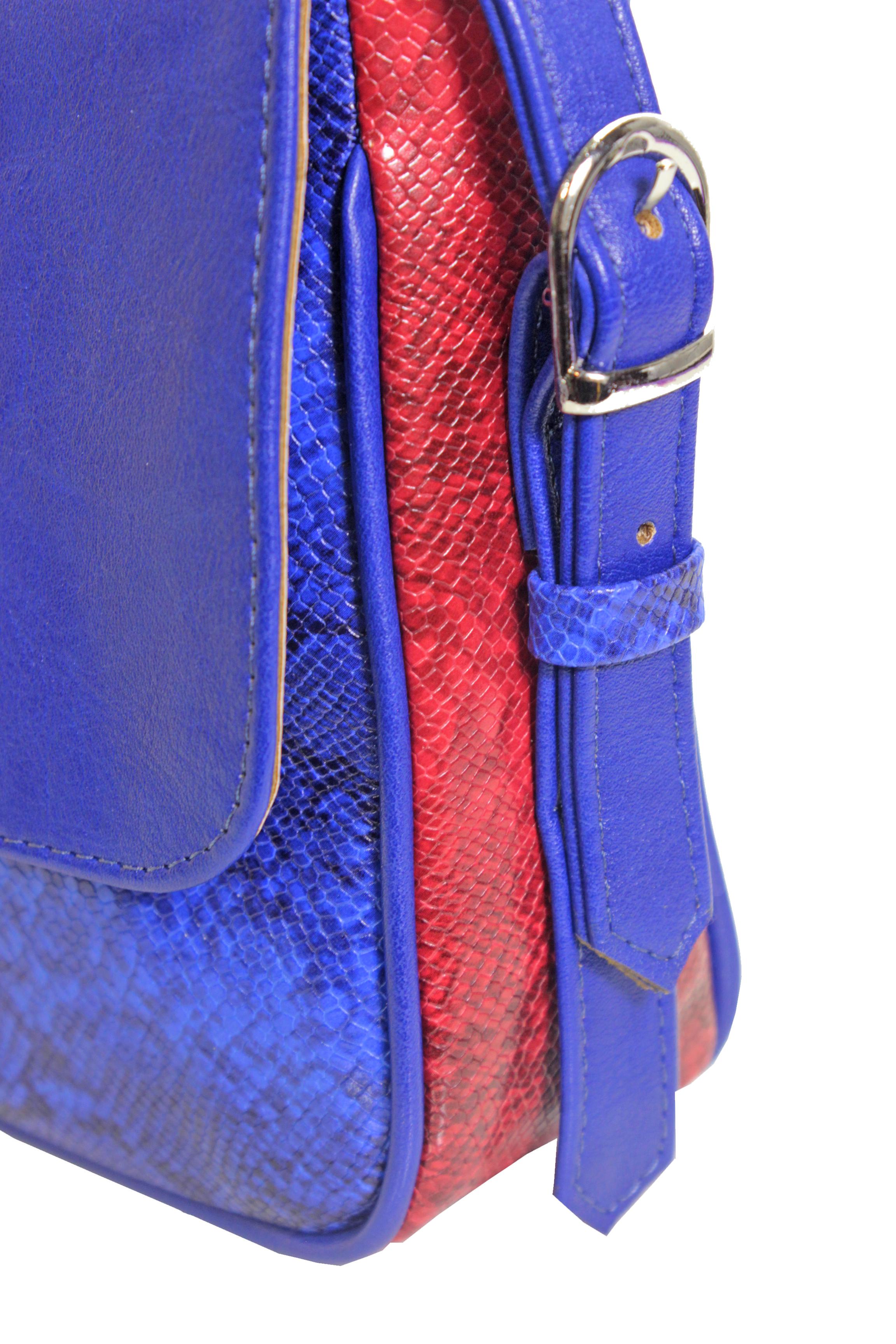 Crossbody kabelka s hadím vzorem 11-10245-blue-snake - detail