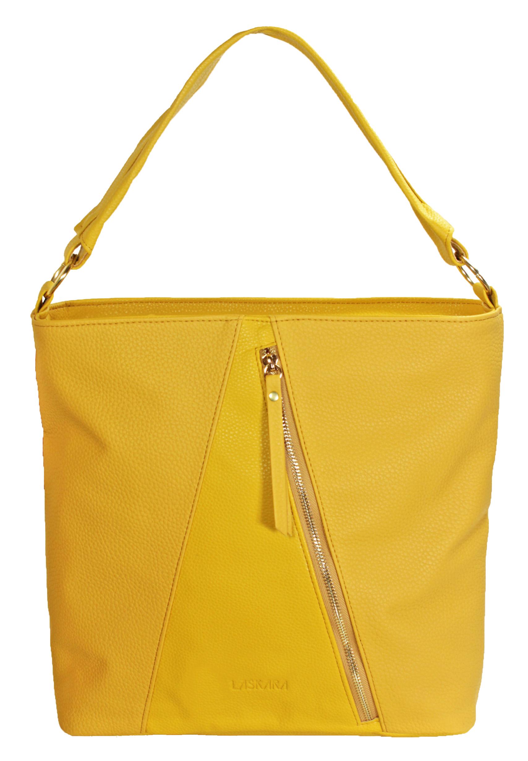 Velké kabelka v zářivě žluté barvě 11-10252-yellow-mustard