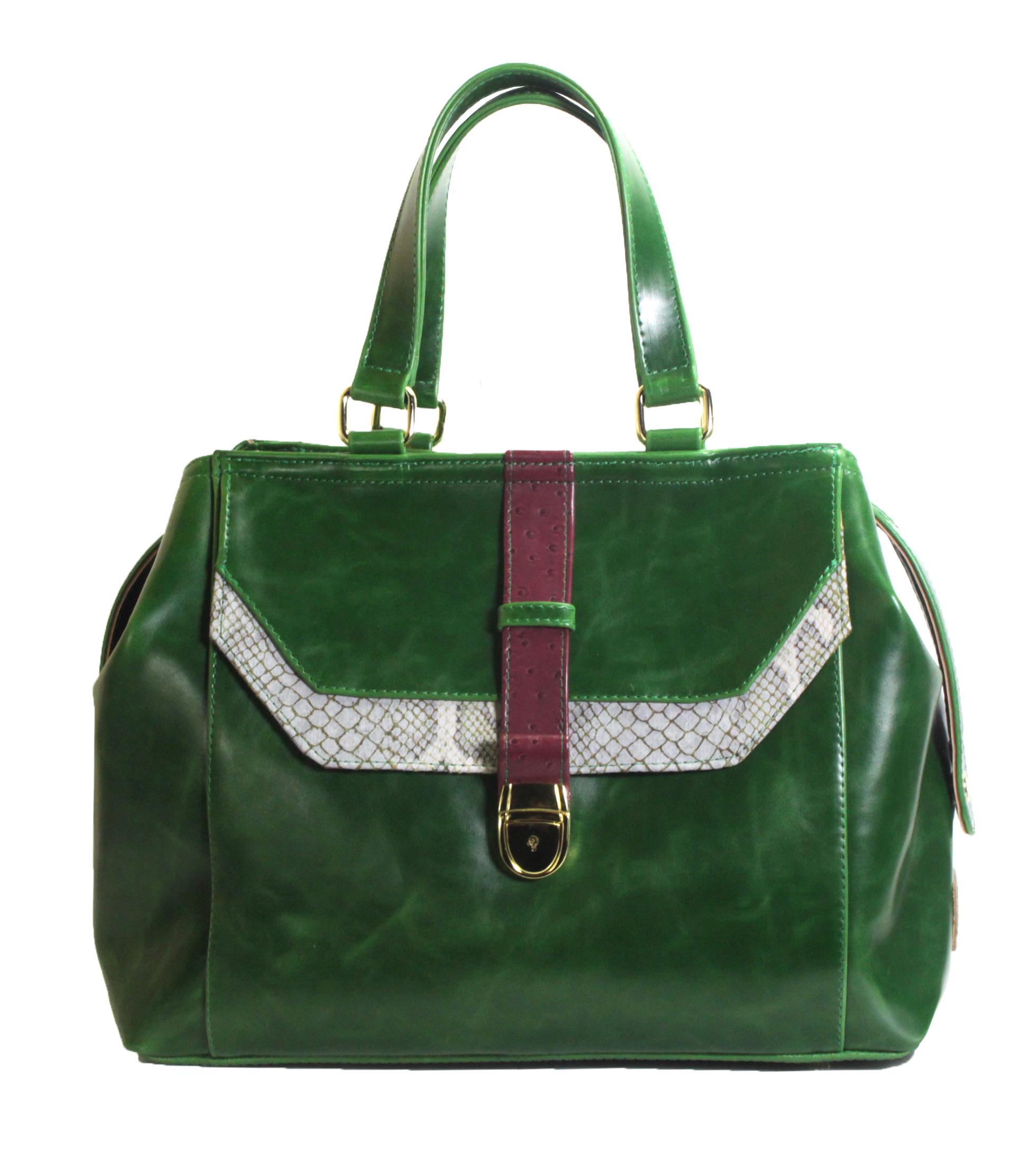 Atypická zelená kabelka 11-20287-green