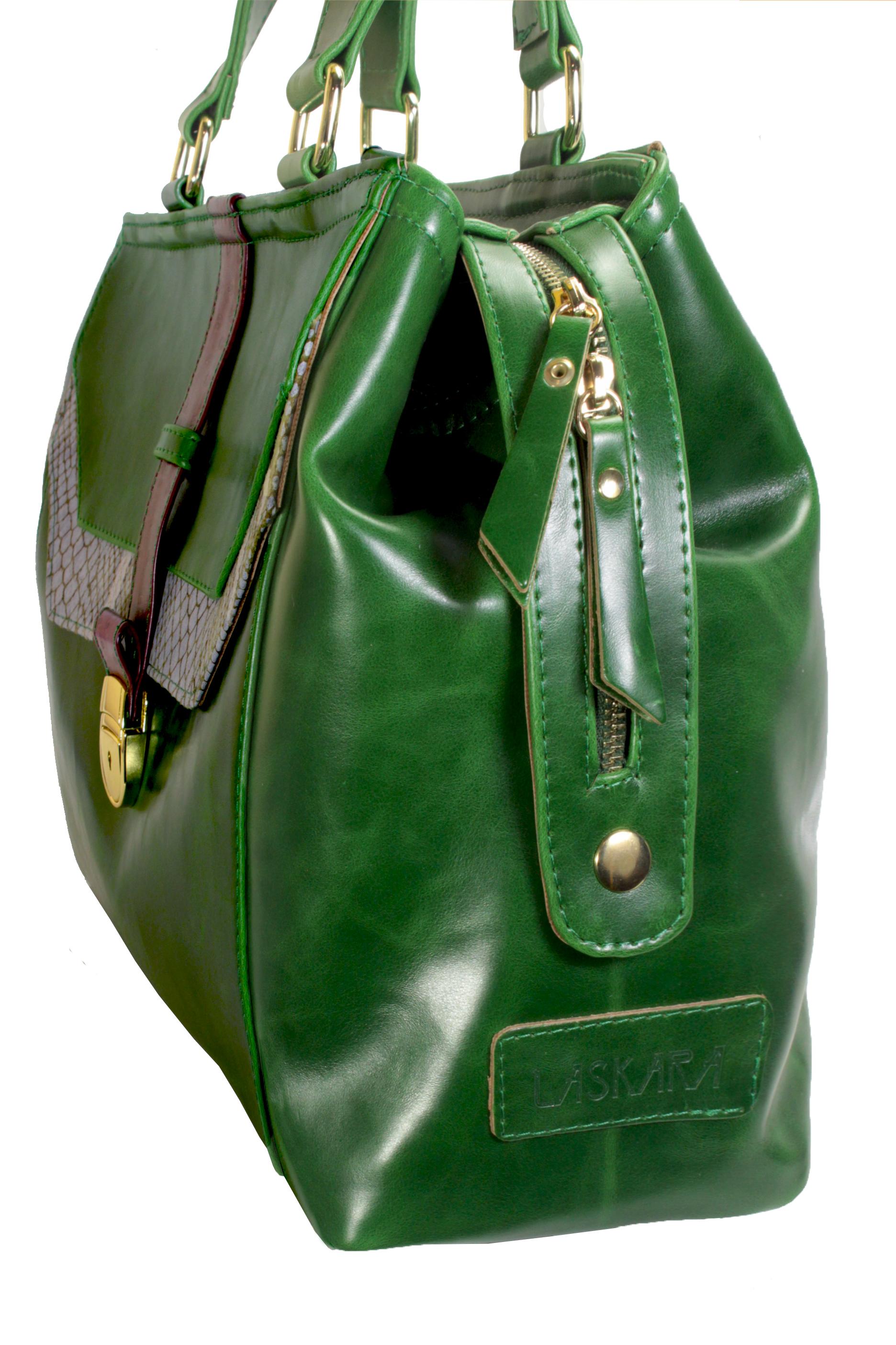 Atypická zelená kabelka 11-20287-green - detail