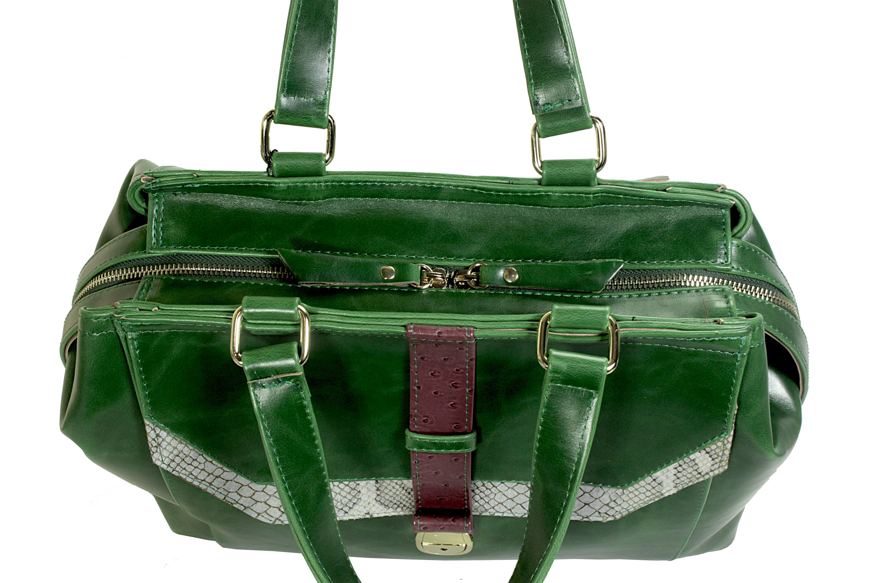 Atypická zelená kabelka 11-20287-green - horní pohled