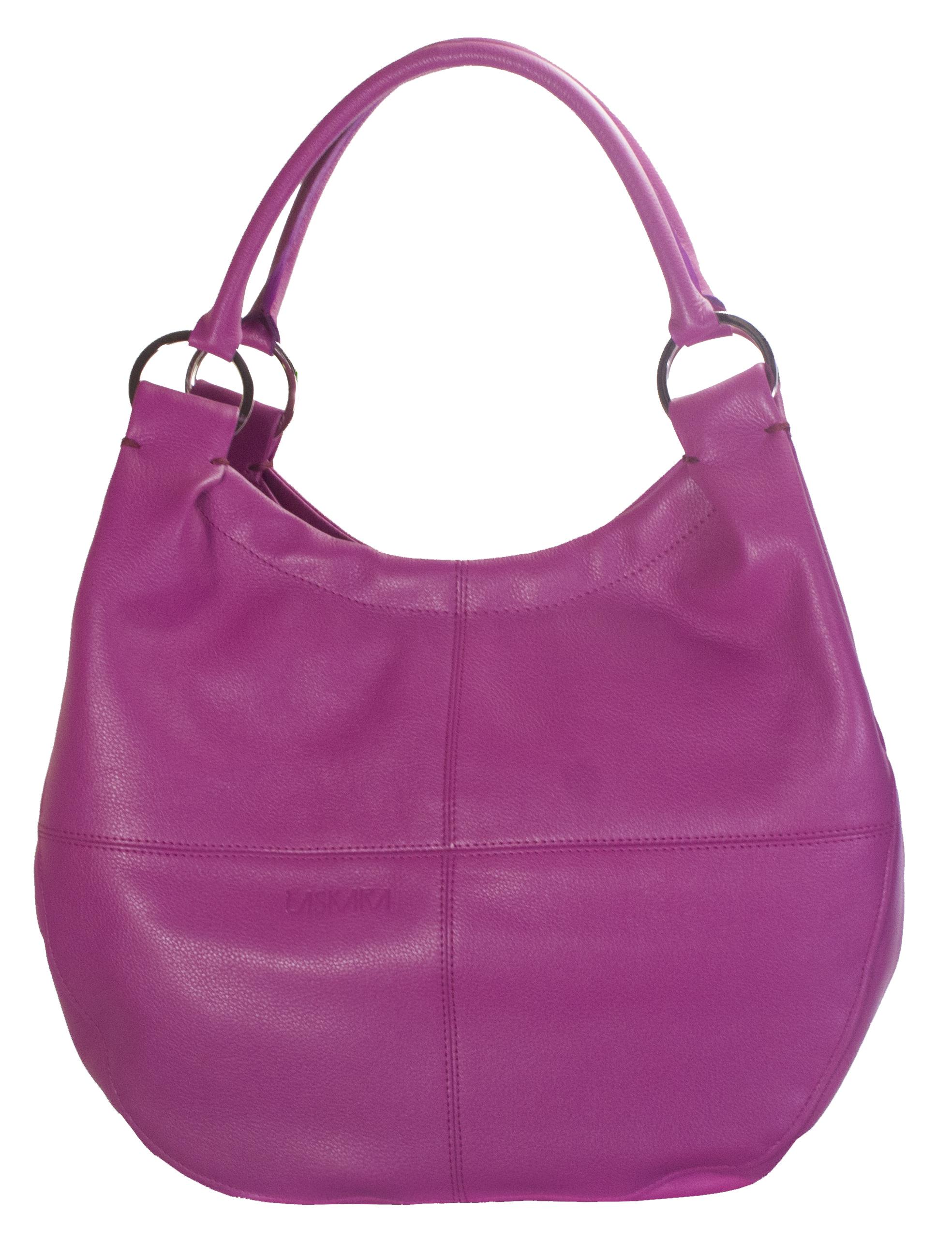 Kožená kabelka v malinové barvě 11-DS255-raspberry