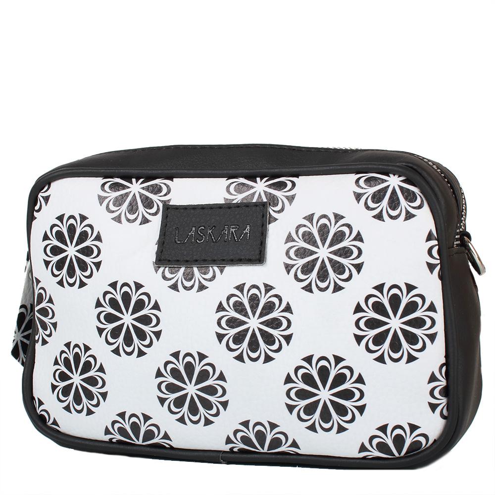 Černá kabelka s květinovým vzorem 11-20284-black