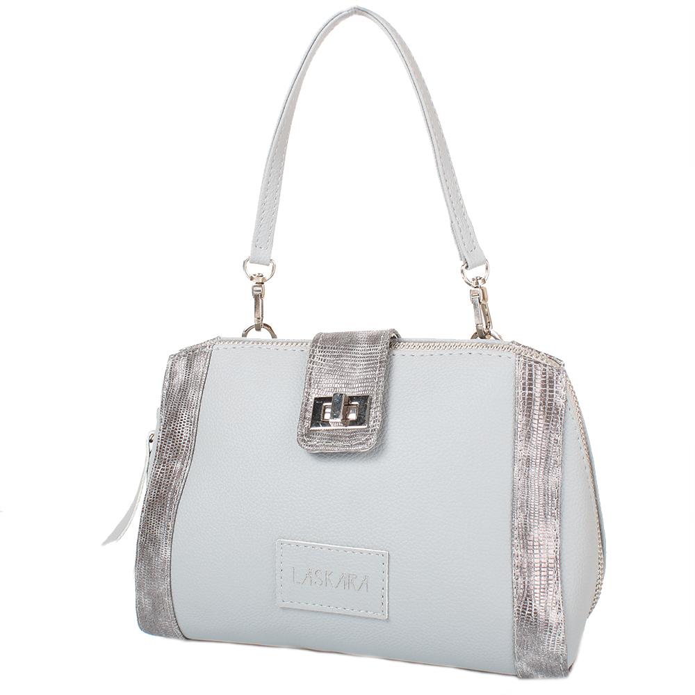 Šedá kabelka se stříbrným zdobením 11-20288-grey