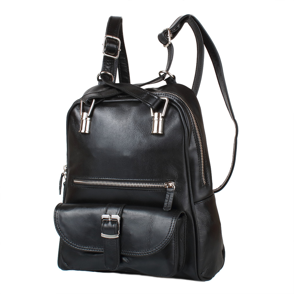 Kožený multifunkční batůžek 11-DM229-black