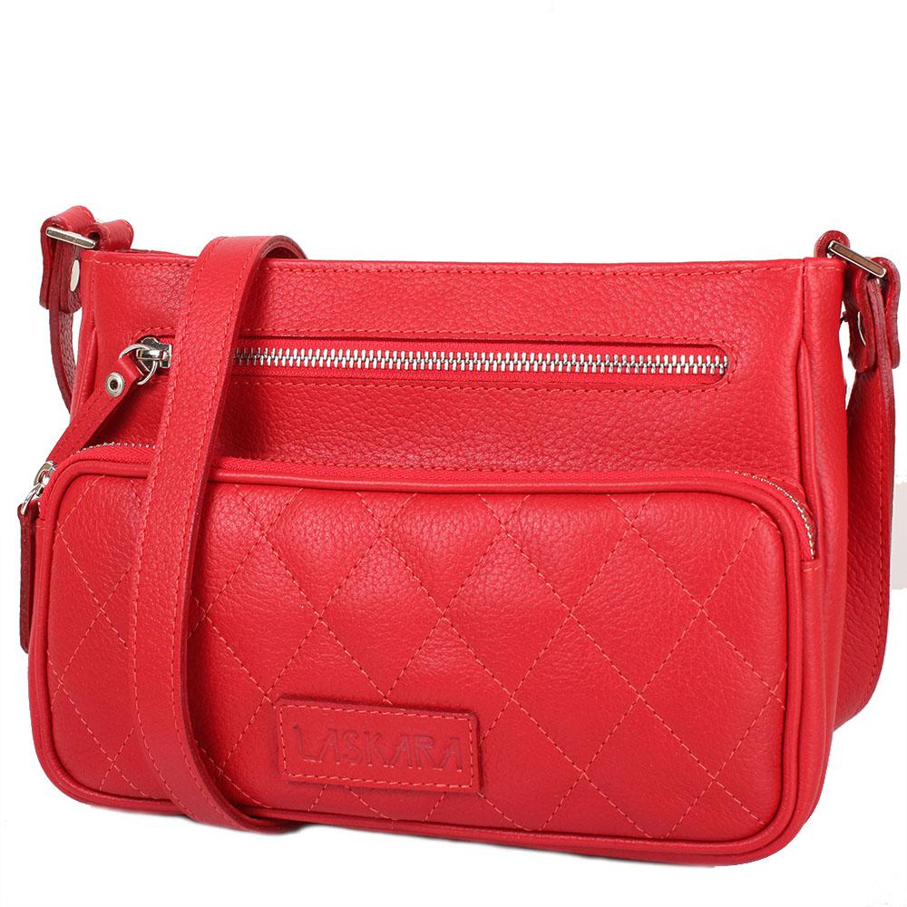 Kožená crossbody kabelka 11-DS256-red