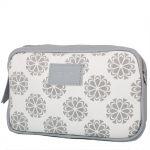 Šedá kabelka s květinovým vzorem 11-20284-grey