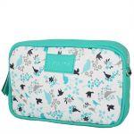 Tyrkysová kabelka s ptačím vzorem 11-20284-turquoise