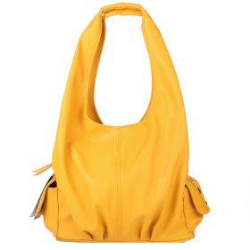 Žlutá kabelka LK-10239-yellow - zadní strana